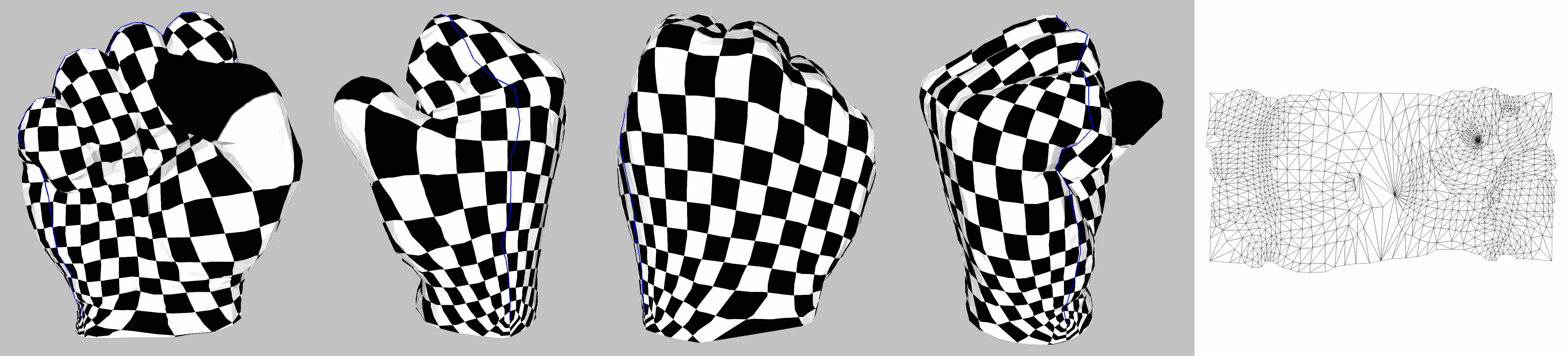 CGAL 4 14 - Planar Parameterization of Triangulated Surface Meshes